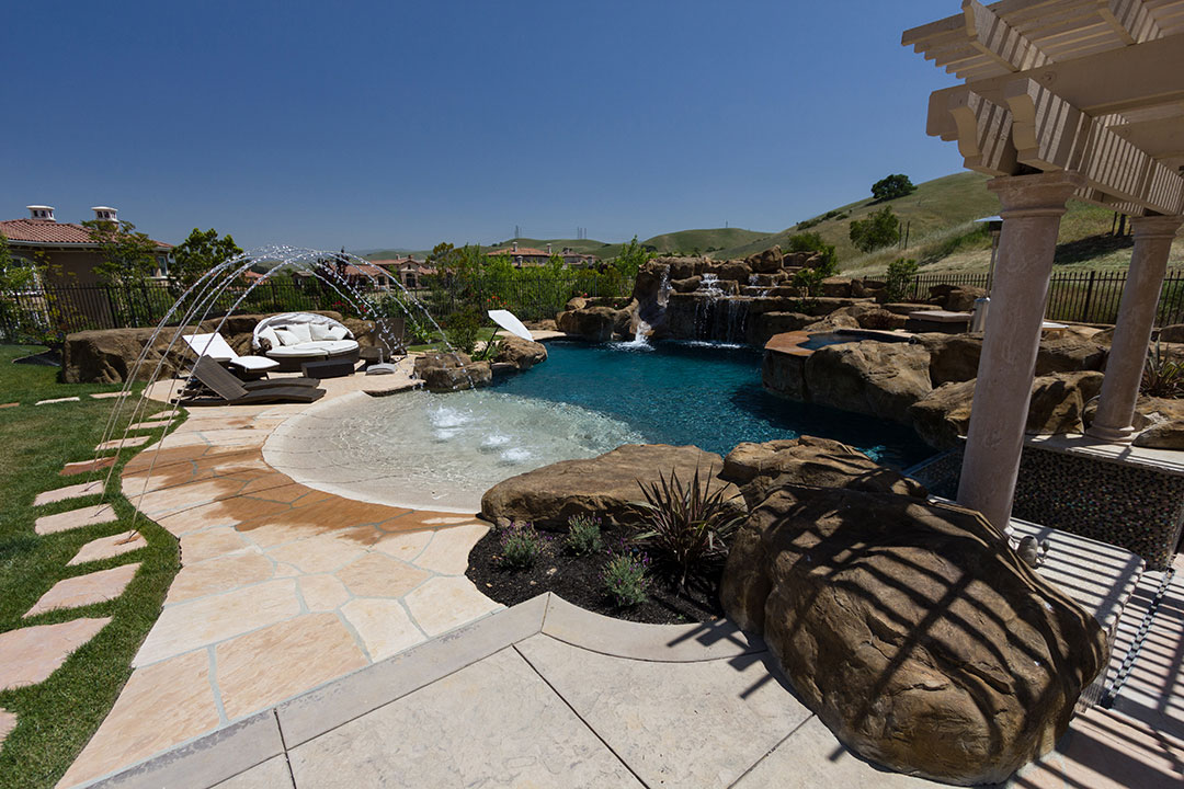 Rustic Stone Inground Pool