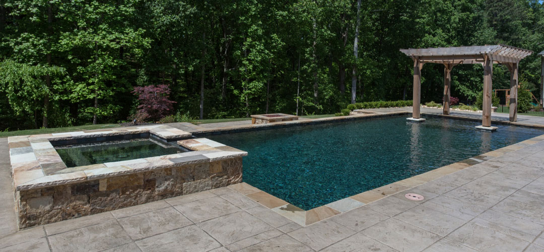 NPT StoneScapes Black Pool Finish, Natural Stone Coping