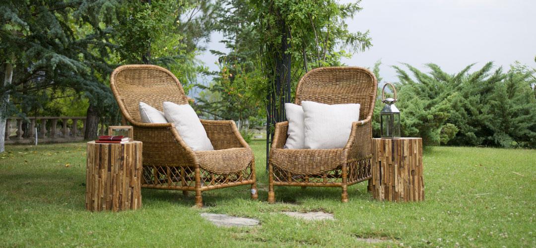 Backyard Wicker Chairs