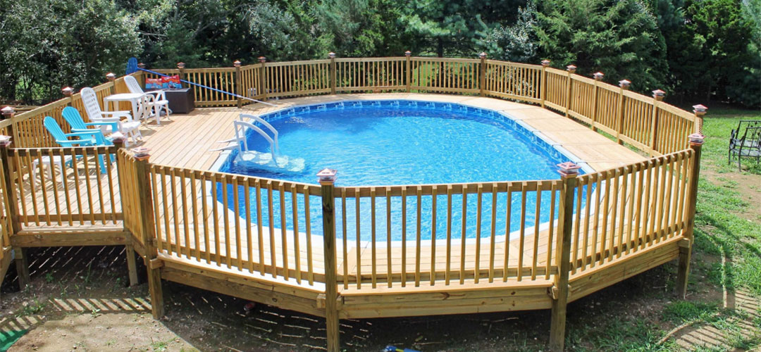 Above Ground Pool Deck Landscaping, What Is The Best Material For An Above Ground Pool Deck