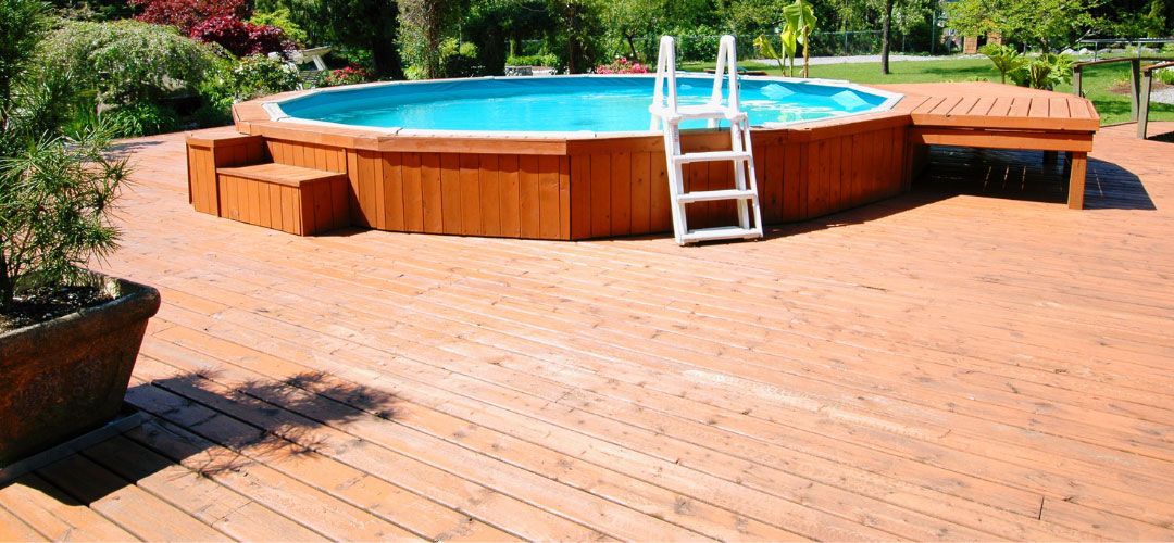 Above Ground Pool Deck Landscaping Ideas Backyard Pool