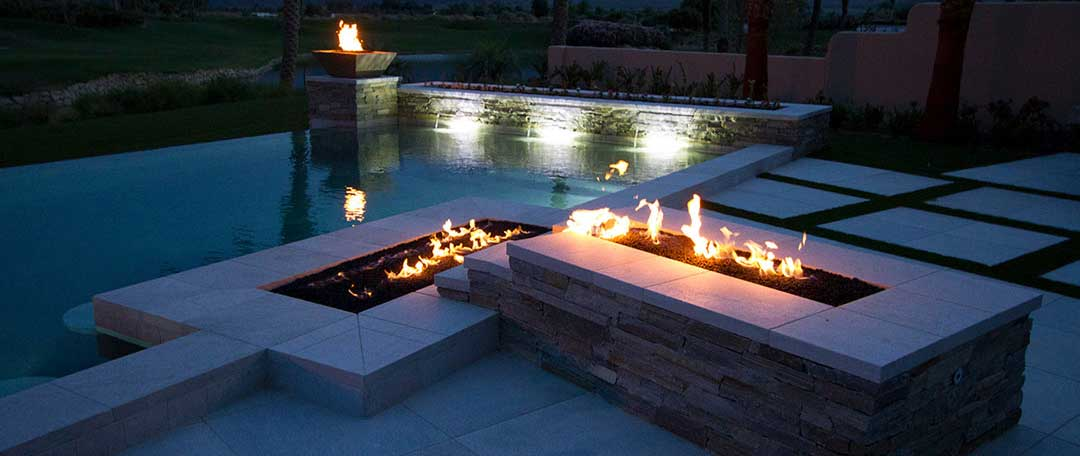 Outdoor Landscape Natural Gas Fire Pits