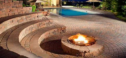 Pool Area Fire Place