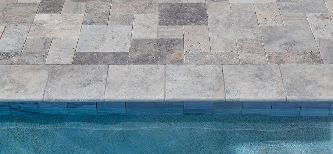 Blue Pool Coping Edge, Natural Stone Pavers