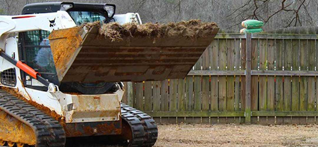 Tractor Hauling Dirt For Swimming Pool Installation
