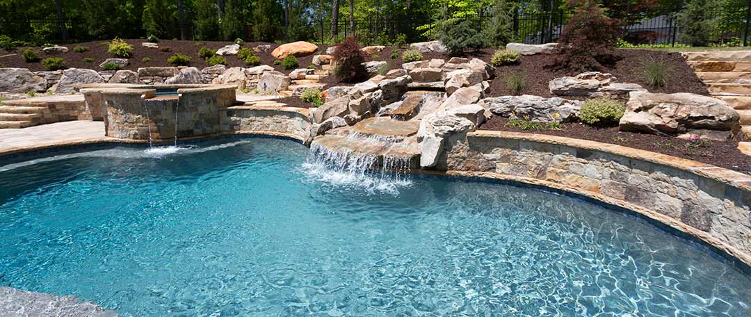 Gunite Swimming Pools, Waterfalls & Custom Steps