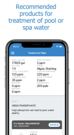 Recommended Products on Water Testing App
