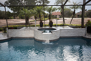 Gunite Rectangle Shape Swimming Pool with Medium Blue Water Color