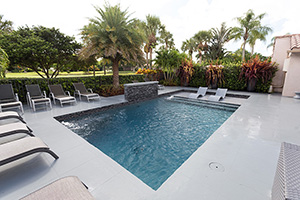 Gunite Rectangle Shape Swimming Pool with Light Gray  Water Color