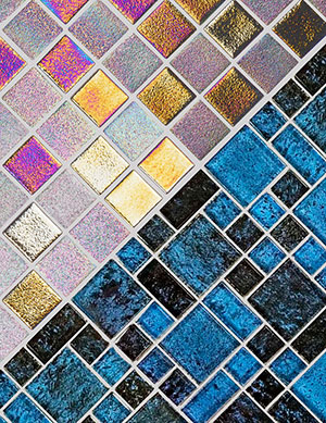 NPT's Opal Alloy and Artistry Mosaic's Azure Black