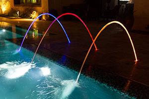 Cabaret – LED Water Jets of Metallic Colors.