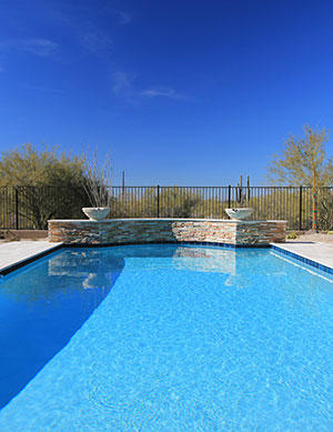 Classic – Crystal Blue Waters in Rectangular Pool