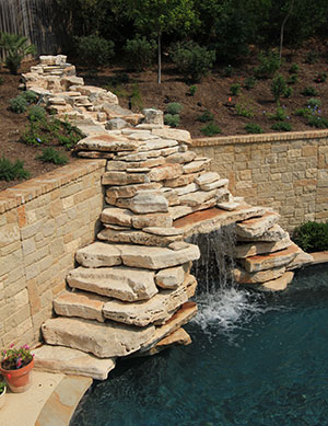 Natural – Stone Stacked Waterfall and mermaid
