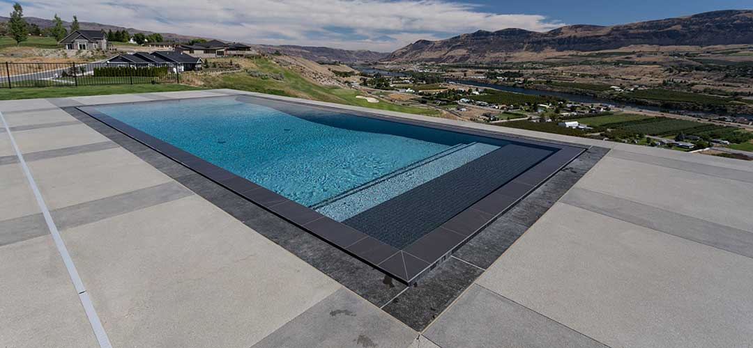 swimming pool with plaster pool finish