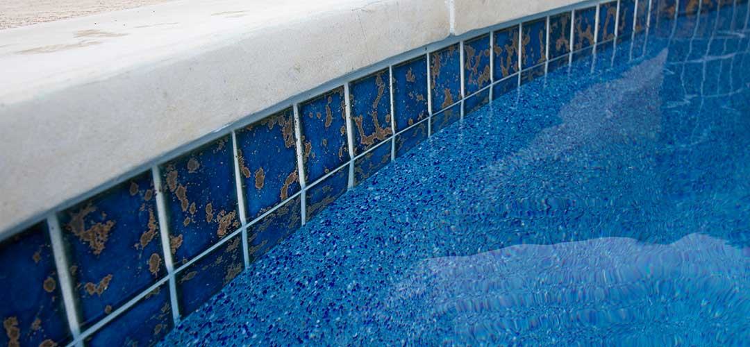 close up of swimming pool tile