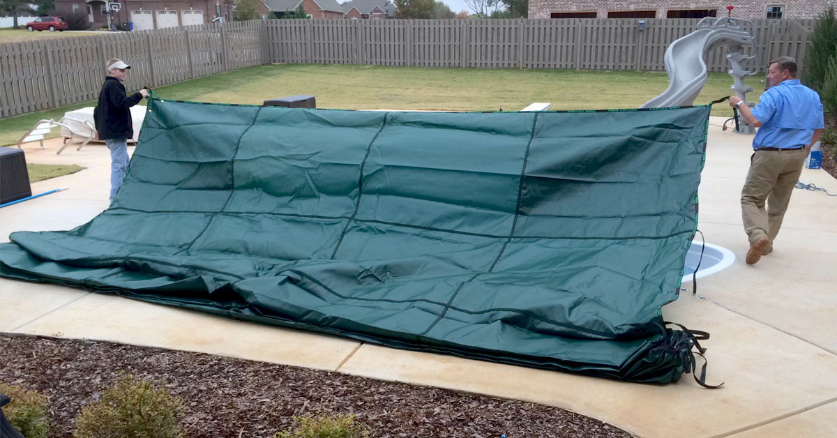 Backyard Swimming Pool Cover, Pool Safety Cover